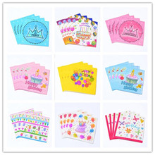 Clearance 20pcs/lot Lovely Cartoon Birthday Paper Towel Baby Shower Birthday Festivel Table Decor Children Party Napkins Decor