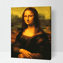 High Quality DIY Digital painting by numbers 100% Hand painted Oil painting on canvas The world famous painting Mona Lisa(China)
