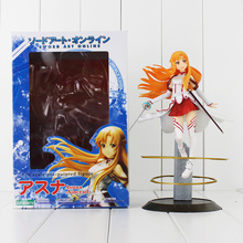 "9"" 23cm Japanese Anime Sword Art Online SAO Asuna Aincrad PVC Action Figure Doll Toy Collection Model Toy for Kids"