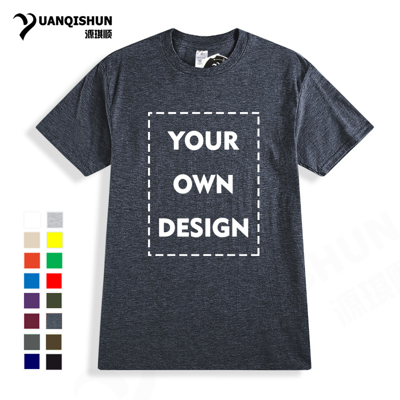 2018 Your OWN Design Brand Logo/Picture High Quality Casual Custom Men and Women T-shirt Unisex Plus Size T Shirt Free Shipping(China)