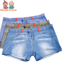 2 Pcs/lot Boys Boxer Children's Underwear Boy Modal Jeans Student Boxer Cartoon Solid Color Ventilation Boxer Underwear ATNM0059