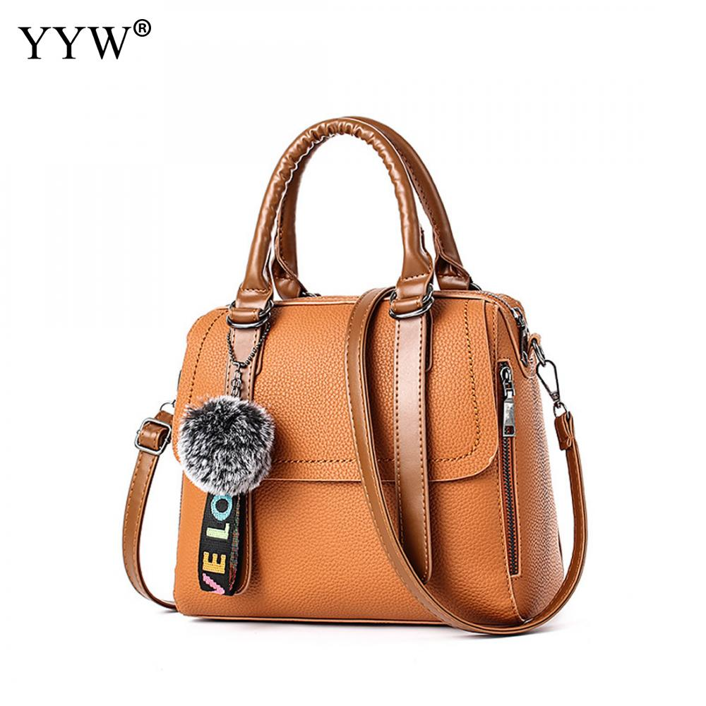 Famous Fashion Female Bag Yellow PU Leather Women Handbags Khaki Boston Bag Black Shoulder Crossbody Bags Women Casual Tote Bag<br>