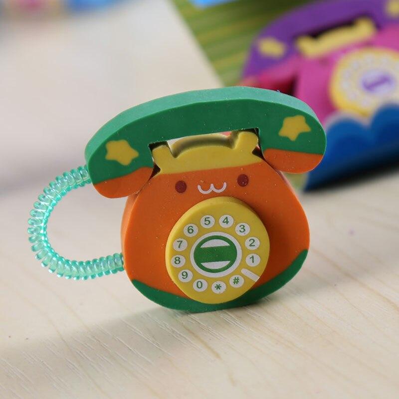 South Korea Stationery Creative Cartoon Phone Eraser 48pcs Children In Kindergarten School Supplies<br><br>Aliexpress