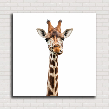 Frameless The Cool Giraffe Painting Printed On Canvas Wall Art  Decorative Animal Giraffe Picture For Home Kids Living Room