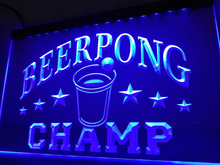 LB941- Beer Pong Champ Beer Bar Pub NEW   LED Neon Light Sign   home decor  crafts