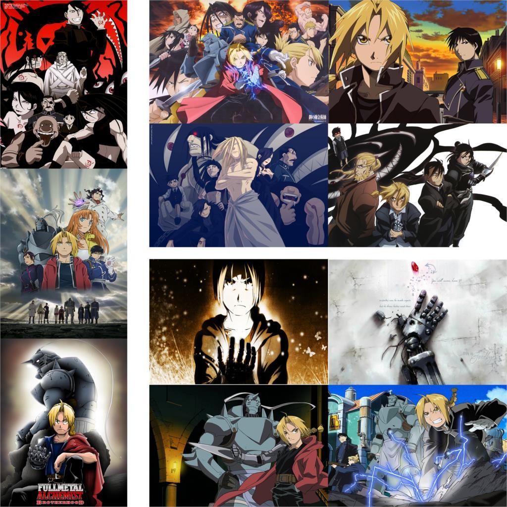 5260 Fullmetal Alchemist Decor Poster Wall Scroll cosplay