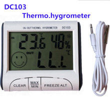 100pcs/lot by dhl fedex DC103 Weather Station Temperature Humidity Indoor Outdoor Thermometer Hygrometer Max/min temp memory