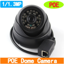Onvif  1MP/ 1.3MP Mini Dome IP Camera 24 pcs LED Indoor  Network IP Camera POE Camera Support P2P Smart  Phone View