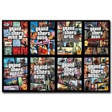 NICOLESHENTING Grand Theft Auto V Game Art Silk Poster Huge Print 12x18  32x48 inches GTA 5 Wall Pictures For Living Room 12
