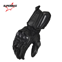 Moto Motorcycle Gloves For Men GP PRO Leather Glove Motocross Full Finger Long Cycling Racing Guantes Moto Luvas da motocicleta