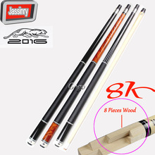 8 Pieces Wood Technology Shaft 2016 Hot 11.5/12.75MM Cue Tips Pool Billiard Cue Stick 58 Inch With 8K Series Accessories