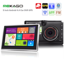 Free shipping 5 inch Android 4.4 Car Tablet GPS 170 Degree 1080P DVR Recorder WiFi / 3G FM Car Multi-media Player