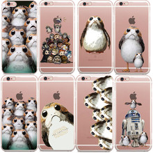 Buy Star Wars Last Jedi Retro Porg Hard PC Phone Case iphone 5 5S 6 6S Plus 7 7Plus 8 8Plus BB-8 R2-D2 iPhone X 10 Cover for $1.11 in AliExpress store