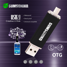 SUMSONIKO Phone USB Flash Drive High Speed USB 2.0 OTG Pen Drive Custom Gift USB Key Flash Memory Stick Free Shipping