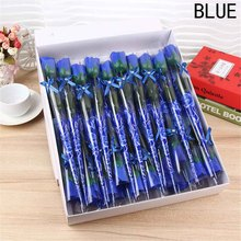 Artificial Rose Bouquet Handmade Simulation Soap Flower Red/Pink/Blue/Purple Rose Flowers Valentine's Day Gift(China)