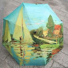 Art Umbrella Painting Creative hand-painted Personality Oil Painting Umbrella Rain Umbrella Monetai Boat Oil Umbrella