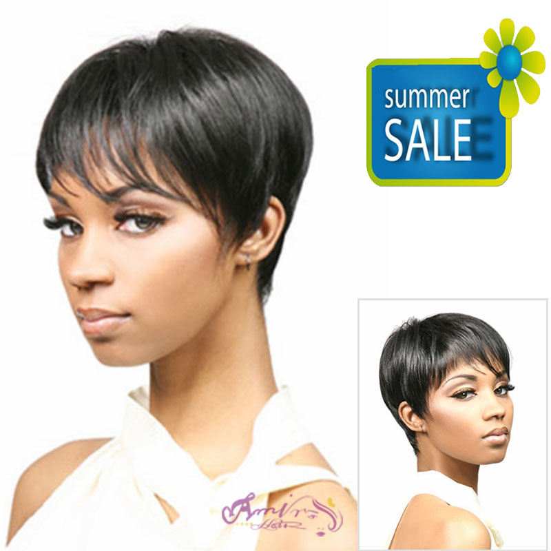 Natural highlights short black wig synthetic afro hair, puffy straight short wigs for black women, free shipping cheap hair wig<br><br>Aliexpress