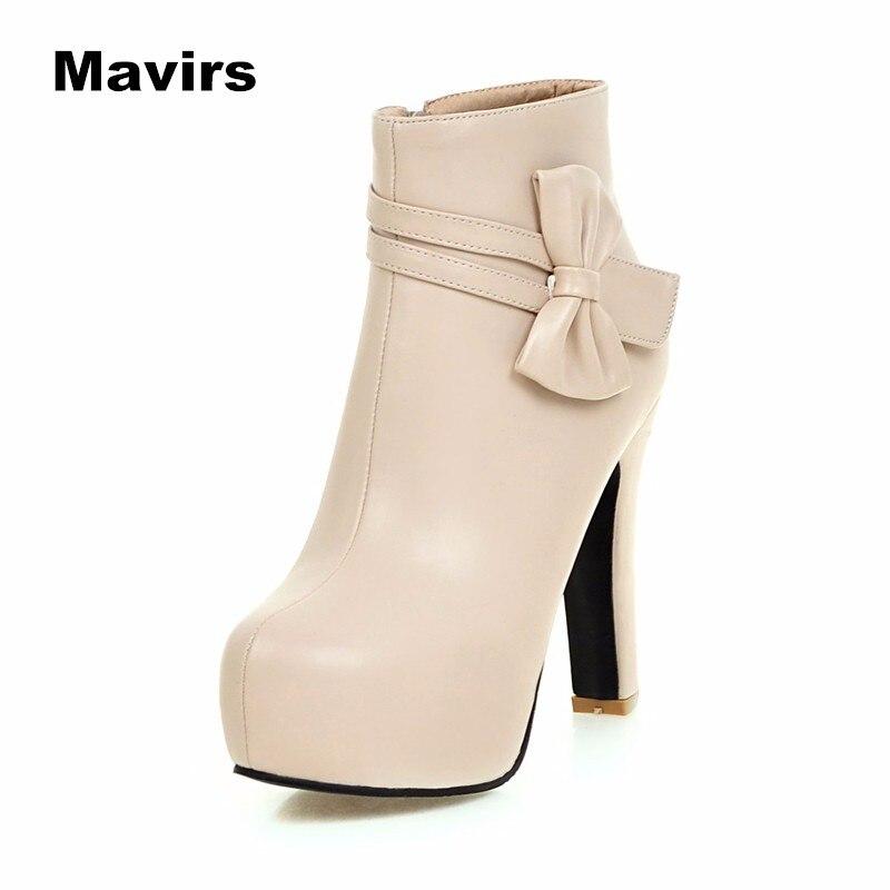 Mavirs Fashion women ladies girls students winter cold autumn winter snow casual zip bowtie platform high heels boots shoes<br><br>Aliexpress
