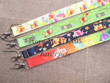 New 10 pcs Popular Cartoon Bear  Cello Phone key chain  Neck Strap Keys  Free Shipping T-201