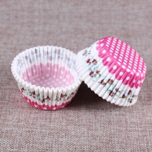 100Pcs Colorful Rainbow Paper Cake Cupcake Liner Baking Muffin Box Cup Case Cake Tray Mold kitchen accessories Decorating tools(China)