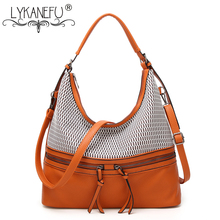 LYKANEFU Brand 2018 Women's Shoulder Bags Half Moon Women Bag Luxury Handbags Women Bags Designer Tote Purse Pu Leather Handbag(China)