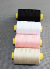 High quality cotton sewing thread with 4 basic baby color 800 yards/color 4 tubes/set(China)