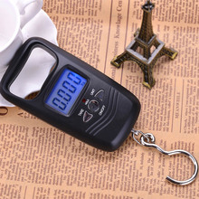 Portable 110lb/50kg Digital Scale Electronic Scale Fishing Gear Tool with Backlight LCD ALS88