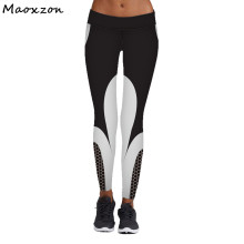 Buy Maoxzon Womens Print High Waist Fitness Slim Leggings Trousers Female New Fashion Active Jogger Workout Elastic Skinny Pants for $10.34 in AliExpress store
