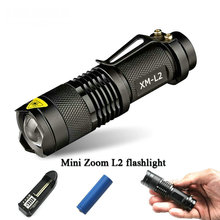 mini penlight lanterna led flashlight torch  cree xm-l t6 xm l l2 rechargeable Zoom waterproof 18650 battery