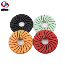 (3FP2-2) 4 pieces/lot 80mm 3inch polishing pad for stone granite marble,diamond floor Polishing Burnishing Buffing Cleaning Pad(China)