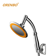 ORENBO 360 Degrees Adjustable Shower Head Arm 6 Inches Rain Shower Handheld Rainfall Shower Heads rain Hand Shower Free shipping