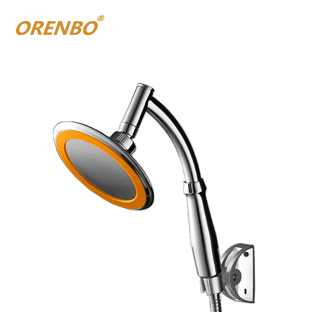 ORENBO 360 Degrees Adjustable Shower Head Arm 6 Inches Rain Shower Handheld Rainfall Shower Heads rain Hand Shower Free shipping(China)