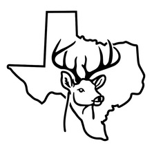 15.2*14.2CM Texas State Outline Deer Cute Vinyl Car Styling Decals Drift Racing Car Stickers Black/Silver C9-1825