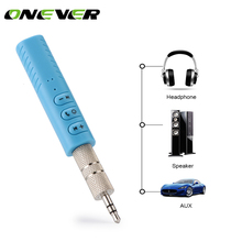 Onever 3.5mm jack Bluetooth Car Kit Hands free Music Audio Receiver Adapter Auto AUX Kit for Speaker Headphone Car Stereo