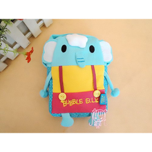 2017 New Korean OEM Small kids Cotton Messenger Cross body bag Camara Cup case Elephant Rabbit Monkey girls boy baby gift C069(China)