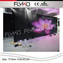 P10 china sexy video curtain led,led video curtain play full sexy movies,led video cloth(China)
