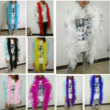 Beatiful 2Meters/Lot 4 plys natural Ostrich Feather Boa Quality fluffy  Costumes/Trim for Party/Costume/Shawl/Craft  Available