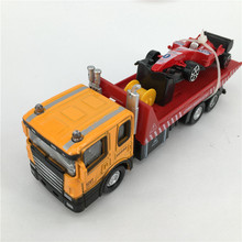 1:60 Simulating Truck Model Toy Die cast Metal + ABS Truck*1 + Sports car *1 Kids Toys Vehicle Brinquedos