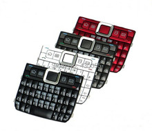 10pcs White/Black/Red/Grey New Housing Home Function Main Keypads Keyboards Buttons Cover For Nokia E71 , Free Shipping(China)