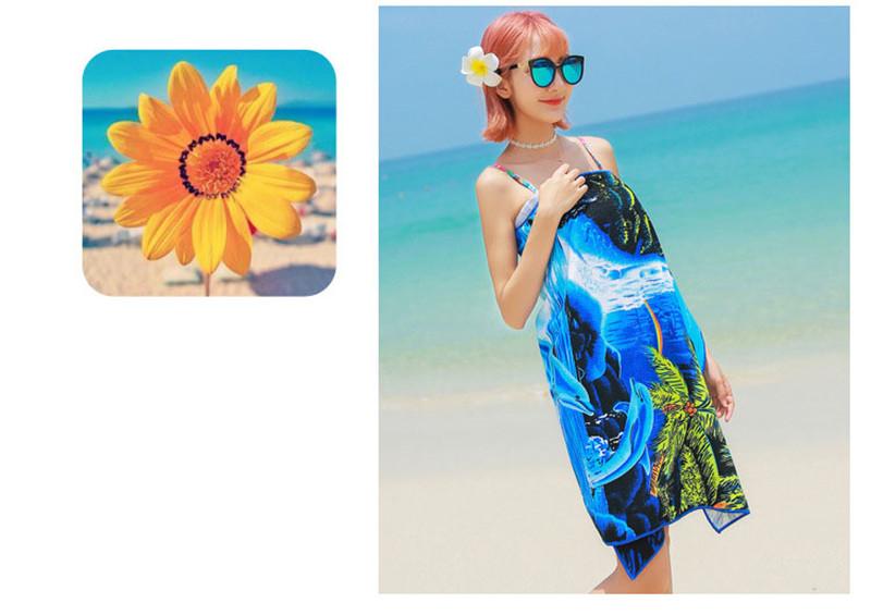 Micro Fiber Printed Beach Towel 140*70cm 8
