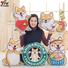 Plush Japan Anime Corgi Puppy Shiba Inu Dog Japan Loyal Dogs Toy Cushion Pillow Baby Kinds Birthday Gift Home Shop Decoration