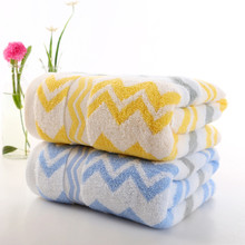 High Quality Absorbent Soft 100% Cloth Bath Towel Beach Towel Wave Pattern Practical Home Textile Bathroom 70x140cm