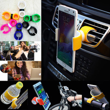 universal 360 Rotating air vent mount stand cradle support telephone mobile car phone holder case for iphone Samsung