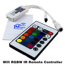 16Million colors Wifi RGB/ RGBW led controller smartphone control music and timer mode magic home wifi led controller(China)