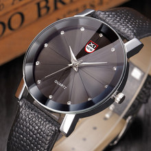 5 colors Quartz Watches Women Crystal Round Dial Crocodile pattern Leather Wristwatch Clock Relogio Masculino Gift  LL@17