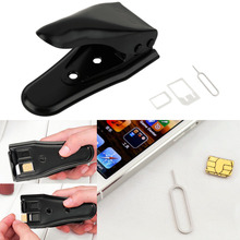 Universal Double Dual 2 in 1 Sim Card Cutter Micro & for Nano Cutting for iPhone5 4S 4 Wholesale(China)