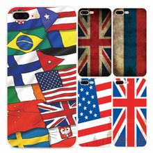 Retro Fashion Flag Phone Case Cover For iPhone 5 5s SE 6 6s 6 Plus 7 7Plus Novelty Soft TPU Silicone Phone Case For iPhone Coque
