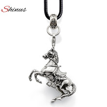 Shinus Men Jewelry Maxi Necklace Women Horse Long Leather Handmade Braided Ethnic Necklaces&Pendants Boho Bijoux Collar Bohemian