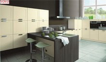 Beige painting and melamine kitchen cabinet
