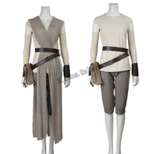 The latest Production Star Wars The Force Awakens Rey Halloween Cosplay Costume Customized